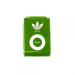 Customized Clip On Upright Pedometer - Customized Walk Trakker Pedometer - Green