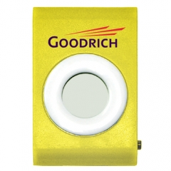 Customized Single Function Pedometer - Yellow