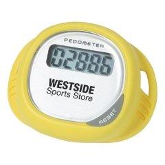 Customized Simple Shoe Pedometer - Yellow