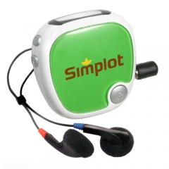 Customized Radio Walk N' Roll Pedometer - Green