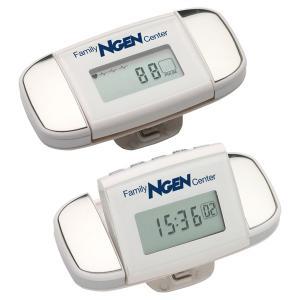 Multifunction Calibration Pulse Reader Pedometer - White/Silver