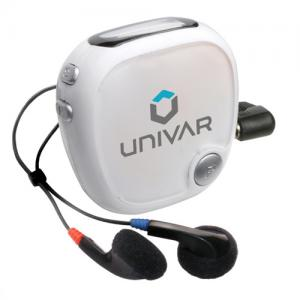 Personalized Radio Walk N' Roll Pedometer - White